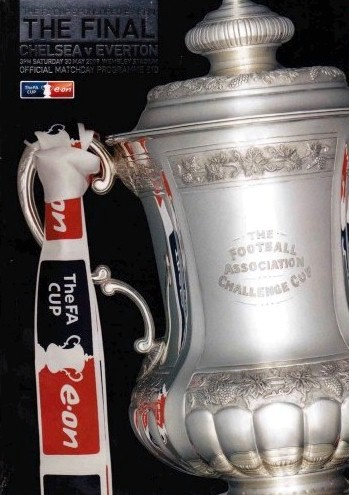 The cover of the Chelsea v. Everton FA Cup Final programme from the match played on 30 May 2009