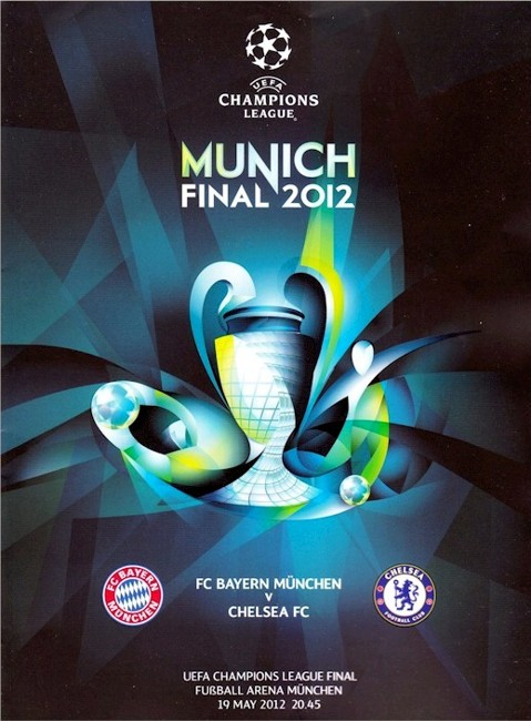 The cover of the Bayern Munich v. Chelsea programme from the match played on 19 May 2012