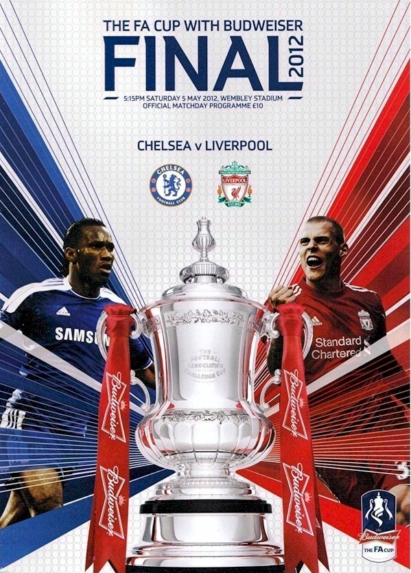 The cover of the Chelsea v.Liverpool FA Cup Final programme from the match played on 5 May 2012
