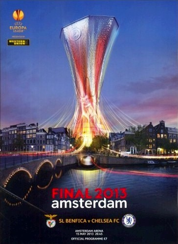 The cover of the Benfica v. Chelsea programme from the match played on 15 May 2013