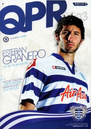 The cover of the Queens Park Rangers v. Chelsea programme from the match played on 15 September 2012