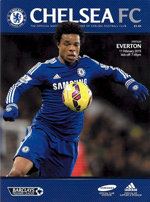 Loic Remy on the cover of the Chelsea v. Everton programme from the match played on 11 February 2015