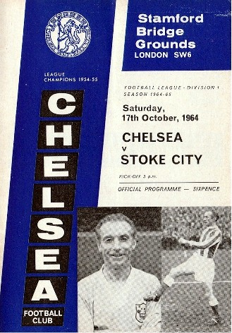 The cover of the Chelsea v. Stoke City programme from the match played on 17 October 1964